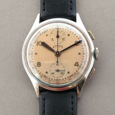 montre chronographe Telda tout acier Venus 170 from the Nicolet watch Vintage Watches, Venus, Omega Watch, Ebay, Accessories, Men Watches, Men, Steel, Objects