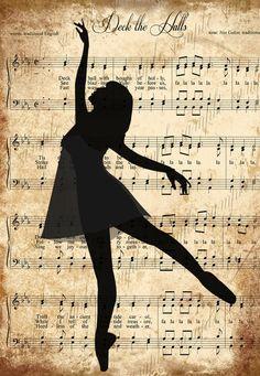 dancing in the lyrics Ballerina Painting, Ballerina Art, Ballet Art, Nutcracker Music, Music Theory Games, Sheet Music Crafts, Ballerina Silhouette, Newspaper Art, Balerina