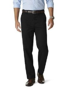 Black Dress Pants Mens 38 x 30 ARROW Flat Front NEW $65 TAG Environment Recycled #Arrow #DressFlatFront