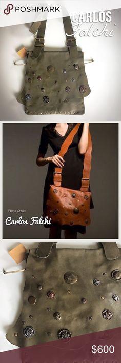 Selling this Carlos Falchi Fine Leather Crossbody-Messenger Bag on Poshmark! My username is: nikongirlrocks. #shopmycloset #poshmark #fashion #shopping #style #forsale #Carlos Falchi #Handbags
