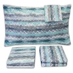 1500 Supreme Collection Extra Soft Summerset Ocean Vibe Chevron Pattern Sheet Set, King - Luxury Bed Sheets Set with Deep Pocket Wrinkle Free Hypoallergenic Bedding, Trending Printed Pattern, King Chevron Patterns, Zig Zag Pattern, Luxury Bed Sheets, Sweet Home Collection, King Sheets, Patterned Sheets, Twin Sheet Sets, Comfy Bed, Comforter Sets