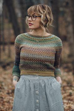 Besten breiwerk : Drea Renee Knits Pattern Shifty Sweater - The Websters in Ashland, Oregon Knitting Short Rows, Fair Isle Knitting, Pulls, Knit Crochet, Knitwear, Knitting Patterns, My Style, Casual, Ashland Oregon