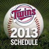 2013 Twins Schedule