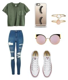 """Comfy"" by maddie-elizabeth10 ❤ liked on Polyvore featuring Topshop, Converse, Accessorize, Fendi and Casetify"