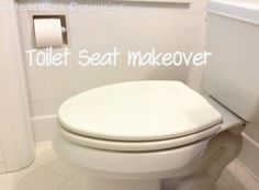 Diy Toilet Seat Makeover Update Improvement With Spray
