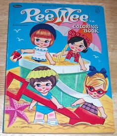 Pee Wee Doll Coloring Book; 1966 by Whitman Publishing Co.