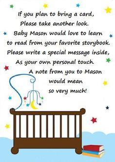 Bring a book baby shower