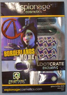 Image result for Borderlands Nail Wraps lootcrate