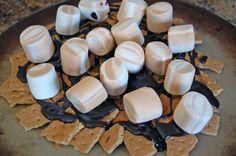 Caramel Fudge S'mores Nachos