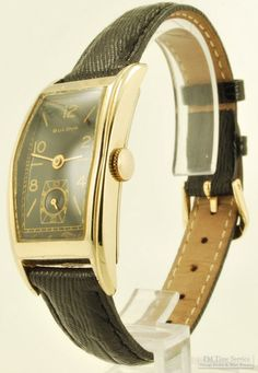 b8739a986 Bulova vintage grade 7AP wrist watch, 17 Jewels, long rectangular yellow  gold filled smooth