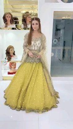 Beautiful Pakistani Dresses, Pakistani Bridal Dresses, Beautiful Dresses, Latest Bridal Dresses, Wedding Outfits For Women, Pakistani Fashion Party Wear, Sleeves Designs For Dresses, Stylish Dress Designs, Pleated Fabric
