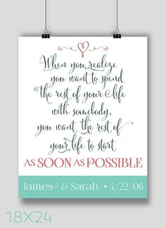 POSTER 18x24 When Harry Met Sally Quote by NoondaybyTracey