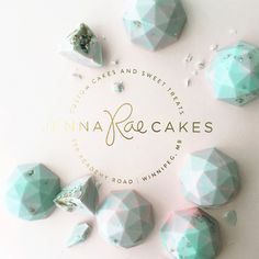 Cotton candy cake truffle gems by Jenna Rae Cakes