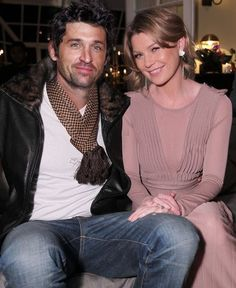 Patrick Dempsey with thos charismatic smile and Ellen Pompeo with seducing smile