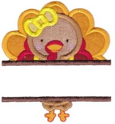 Split Thanksgiving Applique embroidery designs at Bunnycup Embroidery.