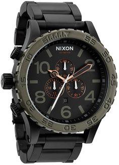 * Nixon 51-30 Chrono Matte Black/Green