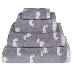 Emily Bond Dachshund Towels (Grey)