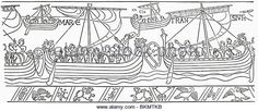 William the Conqueror sailing for England in 1066. From the Bayeux Tapestry.