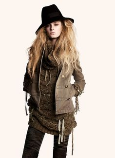 Edgy fashion.- That's a bad azz hat!