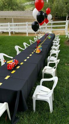 Car truck theme backyard birthday party - kids party - Design by DB Creativity - laura@dbcreativity.com