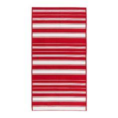 ALSLEV  Rug, flatwoven, red/white  $19.99