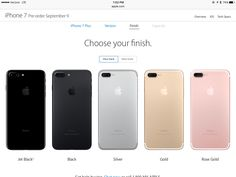 apple iphone 7 colors. iphone 7 plus. apple iphone colors