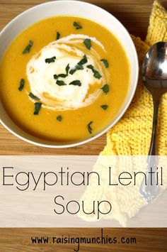 When the temperatures dip, shadows are long, and the days are shortened, we all start to crave warm comfort foods. Egyptian Lentil Soup is a great recipe for this time of year./Healthy Idea: Sub potato with cauliflower?