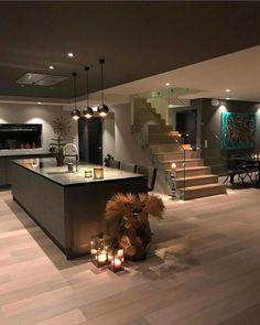 Kitchen Interior House Interior Design Ideas - Discover the very best interior design suggestions Loft Interior, Best Interior Design, Kitchen Interior, Interior Decorating, Luxury Interior, Ikea Interior, Interior Stairs, Contemporary Interior, Dream House Interior