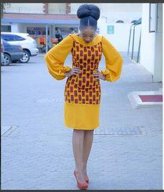 African print Midi dress with balloon sleeves/Ankara/African Clothing/African Fashion/Ankara Clothing/Kente African Fashion Designers, African Fashion Ankara, Ghanaian Fashion, African Inspired Fashion, Latest African Fashion Dresses, African Dresses For Women, African Print Dresses, African Print Fashion, African Attire