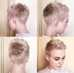 perfect pixie cuts to try this summer hairstyle woman coupe tendance, c Short Pixie Haircuts, Pixie Hairstyles, Summer Hairstyles, Short Hair Cuts, Female Hairstyles, Woman Hairstyles, Haircut Short, Pixie Cut Styles, Short Hair Styles