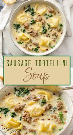 Easy Soup Recipes, Crockpot Recipes, Dinner Recipes, Cooking Recipes, Healthy Recipes, Instapot Soup Recipes, Cabbage Soup Recipes, Healthy Soups, Healthy Comfort Food