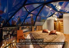 Levin Iglut - glass igloo hotel for the best views of northern lights