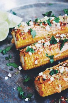 Mexican Street Corn aka elotes - the most ridiculous and best way to eat corn on the cob. via Thyme & Honey Foodie Travel Barbecue Recipes, Grilling Recipes, Veggie Recipes, Mexican Food Recipes, Vegetarian Recipes, Cooking Recipes, Healthy Recipes, Vegetarian Barbecue, Vegetarian Mexican Food