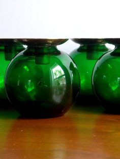 Pair Mid Century Swedish Glass Candle Holders by MidCenturyFLA, $65.00