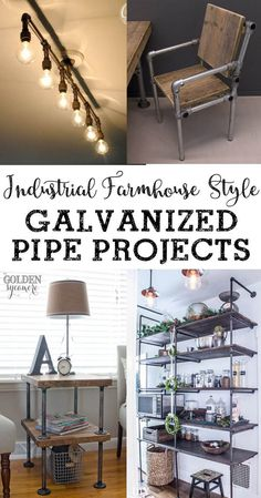 Love industrial farmhouse style decor? Make your own with one of these great galvanized pipe projects!
