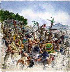 Aztec battle