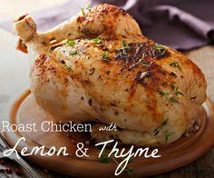 Roast Chicken with Lemon & Thyme