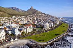 Aerial View of Sea Point. Sea Point is one of Cape Town's most affluent and densely populated suburbs. Paises Da Africa, West Africa, Cool Countries, Countries Of The World, Mother Daughter Trip, Reserva Natural, Namibia, World Geography, Cape Town South Africa