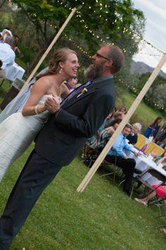 Father/Daughter Dance  #Coloradowedding #purpleandyellowwedding #diywedding #affordablewedding