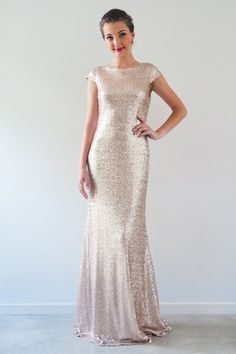 Kathleen is a beautiful slim fitted gown in head to toe sequins. A stylish  and contemporary choice for your Bridesmaids bb2571979e06