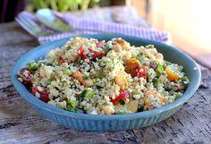 halloumi and cheakpea salad