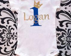 Boys First Birthday Outfit Prince 1st Birthday by BespokedCo