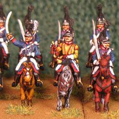 15mm Napoleonic Wurttemberg Leib Chevaulegers AB 12 figures