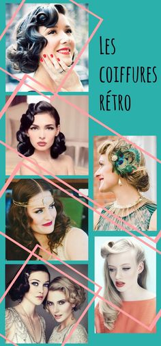 idées de coiffures mariage rétro / des idées de coiffures pour la mariée ou ses invitées sur withalovelikethat.fr
