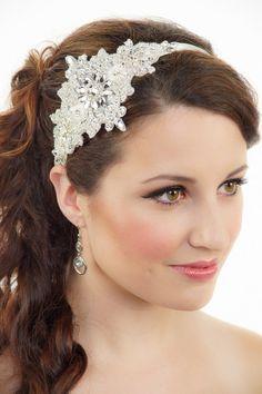 Bridal Headband Silver headband Gatsby Art Deco by VioGemini, $99.99