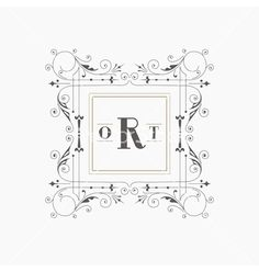 Vintage frame - monogram or calligraphic design vector - by woodhouse84 on VectorStock®