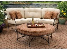 Slick Curved Outdoor Sectional Can Be Turned To Create Any Angle