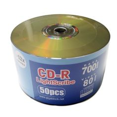 "600pcs Gigablock Lightscribe CD-R 52x Direct burner printing by Gigablock. $137.00. "" Fast Domestic Delivery in 3~4 days Secured , for orders through Gigablockshop "" "" Product ship from California, USA. ""   "" The LightScribe Printable Blank Media disk can be printed only by LightScribe Burner on the disk. ""  BURN music, digital photo albums, presentations and home movies directly on your CD. FLIP.... Inscribe/Burn your customized label. ALL with one lase..."