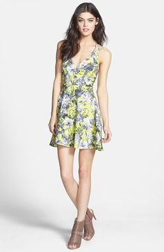 Dirty Ballerina Cross Strap Floral Dress available at #Nordstrom
