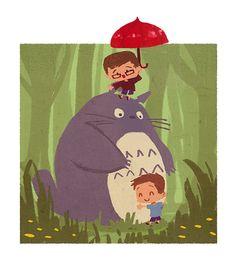 My Neighbor Totoro illustrated by Celine Choo:: viasunshee.blogspot.ca